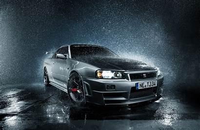 R34 Skyline Nissan Gt Gtr Rain Cars
