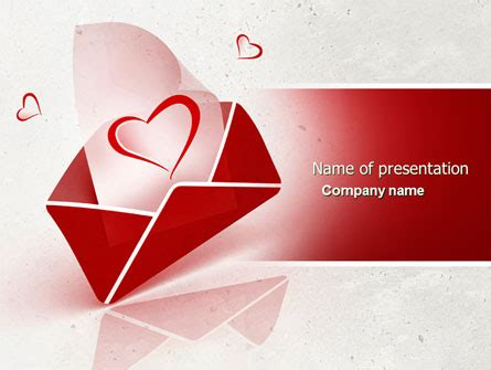 letter  love powerpoint template backgrounds