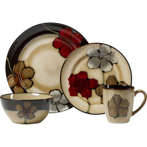 poppy dishes dinnerware pfaltzgraff painted poppies 16 pc dinnerware set kitchen dining clearance shop the exchange