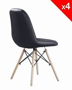 Lot De 4 Chaises Scandinaves : kong chaise scandinave matelass e lot de 4 ~ Teatrodelosmanantiales.com Idées de Décoration