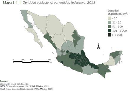 poblacion en la mapa de mexico 2015 informe medio ambiente