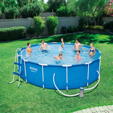 bestway ft steel pro frame pool set   fun