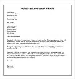 Physical Therapy Resume Cover Letter Exles by Sle Physical Therapist Cover Letter 9 Documents In Pdf Word