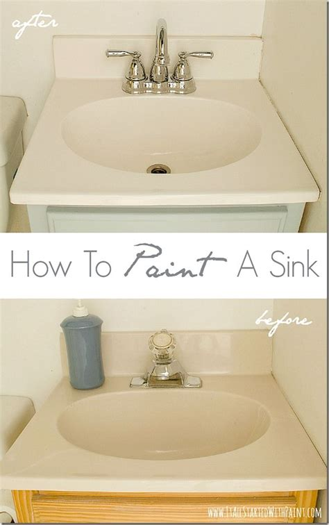 how to paint a bathroom sink how to paint a sink a giveaway it all started with