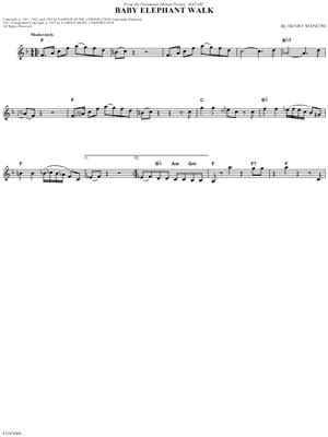quot baby elephant walk quot from hatari sheet music download