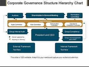Corporate Governance Structure Hierarchy Chart Ppt