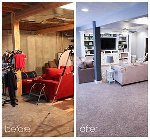 Finished basement before and after photos renocompare for Finished basement ideas before and after