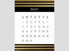 Free Printable May 2019 Calendar Customize Online