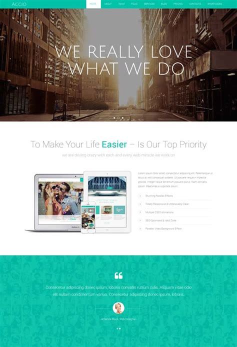 parallax website template 70 best one page website templates free premium freshdesignweb