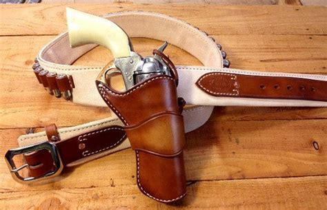 wayne shootist rig west arms leather cowboy shooting gun holster cool guns