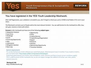 Yes Youth Leadership Meshwork User Guide V1 0