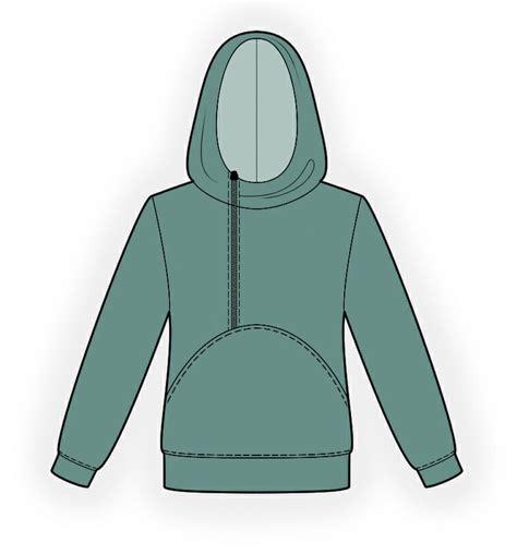 fitted hoodie mens hoodie sewing pattern 4341 made to measure sewing