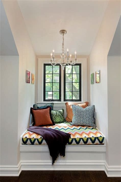 Reading Nook For Bedroom by Black Window Frame Reading Area Using A Window Nook