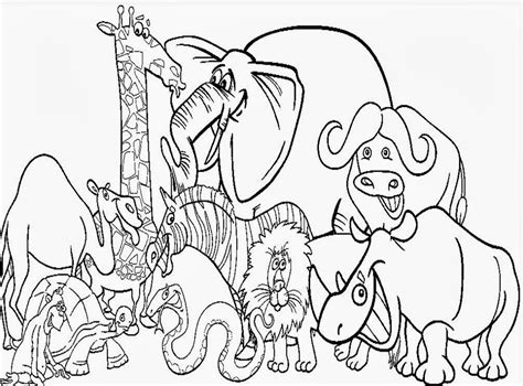 zoo  animals printable coloring pages