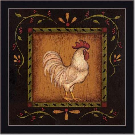 folks country kitchen rooster i primitive folk by klassen framed 1042