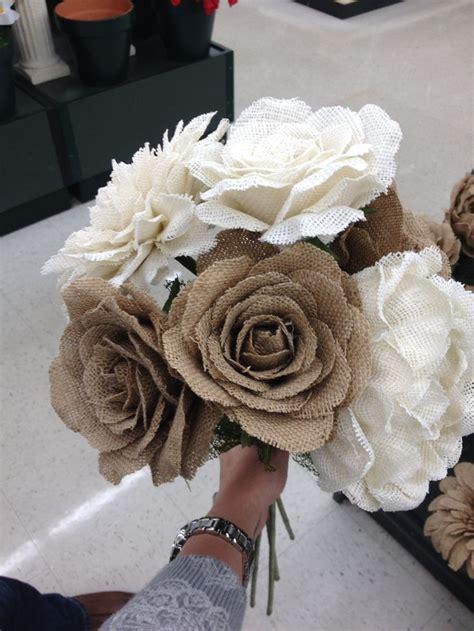 Burlap Flowers Hobby Lobby Wedding Pinterest Burlap