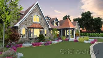 house plans for sloped lots chief architect home design software sles gallery