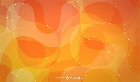 orange abstract swirl background design vector