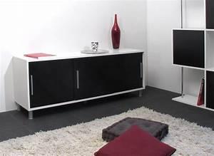 Buffet Bas Noir : buffet bas 3 portes noir ~ Teatrodelosmanantiales.com Idées de Décoration