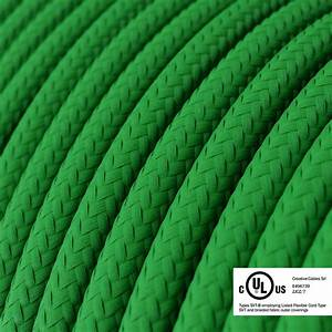 Green Rayon Covered Round Electric Cable
