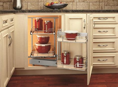 blind kitchen cabinet organizer a spin on the blind corner cabinet woodworking network 4793