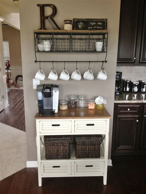 This kitchen counter coffee bar and beverage station project is one for both my fellow coffee lovers & organizing enthusiasts! kitchen coffee bar