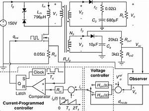Block Diagram Of A Flyback Converter With Primary