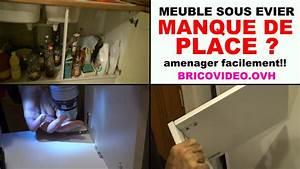 Evier Pour Cuisine : meuble sous evier cuisine amenager pour gagner de la place youtube ~ Carolinahurricanesstore.com Idées de Décoration