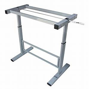 Manual Height Adjustable Standing Desk Base Frame  Stand