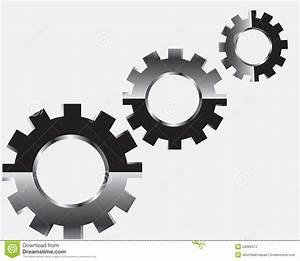 Gear system stock illustration. Image of factory, cogwheel ...