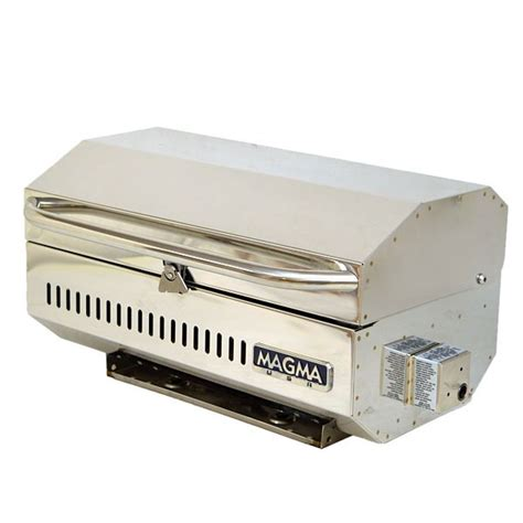 Boat Grill Propane Tank rinker 250935 magma stainless steel 18 inch boat portable