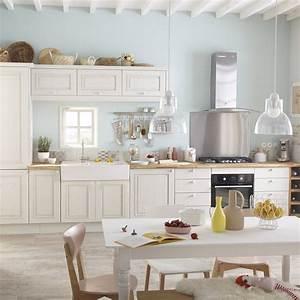 Barre Ustensiles Cuisine Leroy Merlin : meuble de cuisine blanc delinia cosy leroy merlin ~ Melissatoandfro.com Idées de Décoration
