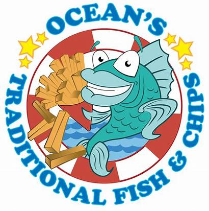 Fish Chips Clipart Chip Cartoon Takeaway Oceans