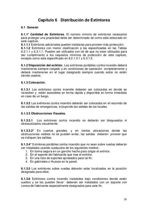 Nfpa 10 2007 español