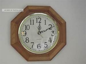 Wanduhr Mit Bildern : meister anker wanduhr quarzuhr mit 8 eckigem holzrahmen hell ~ Watch28wear.com Haus und Dekorationen