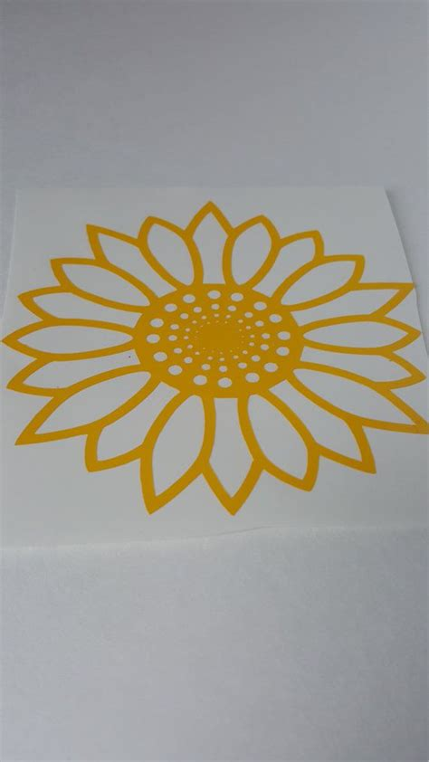sunflower sunflower decal sunflower wall decal  nicsdecals