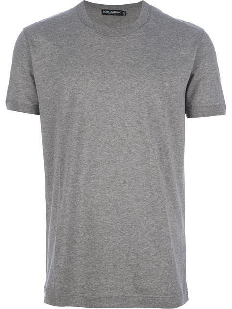 moschino tshirt dolce gabbana basic neck tshirt in gray for lyst
