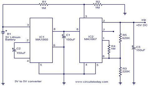 Voltage Converter Volt Circuit Using Max