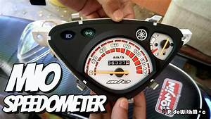 Yamaha Mio Sporty  How To Paint Speedometer Assembly
