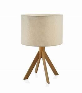 Abat Jour Lampe A Poser : lampe poser courb e design en bois et laiton ~ Dailycaller-alerts.com Idées de Décoration