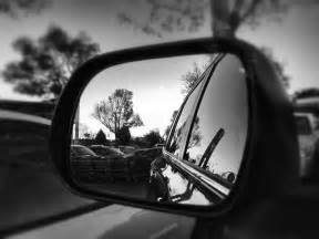 Car Mirror Reflection Photography