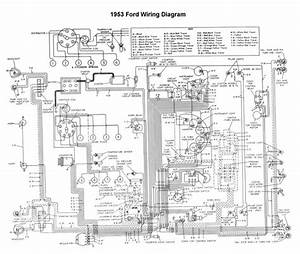 Wiring For 1953 Ford Car  With Images