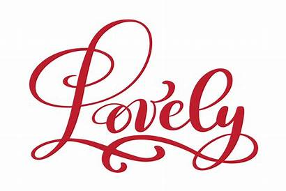 Lovely Valentine Text Postcard Calligraphy Vector Phrase