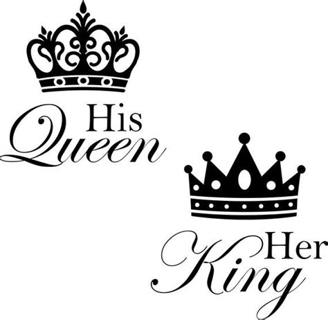 queen   king  crown wall decals