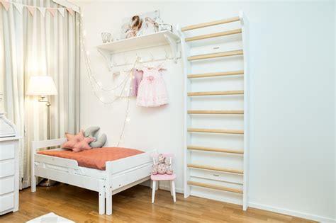 fitwood upplyft mini kids wallbars white birch decoration