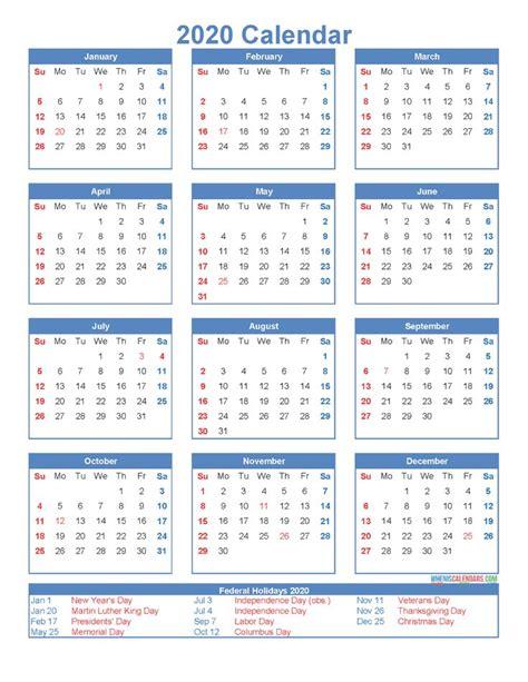printable  month calendar   holidays