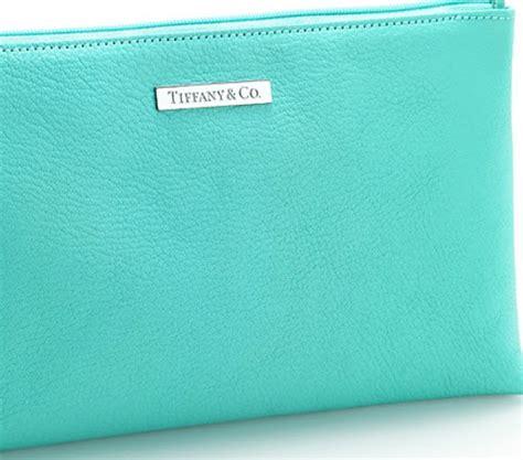 tiffany blue leather cosmetics bag  tiffany