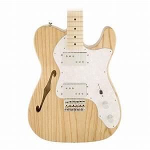 Fender 72 Telecaster Thinline Guitar In Natural