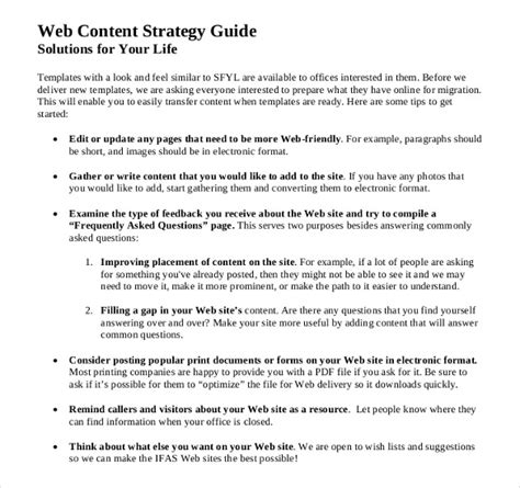 website content template content strategy template 12 free word excel pdf documents free premium templates