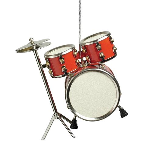 red drum set musical instrument christmas ornament